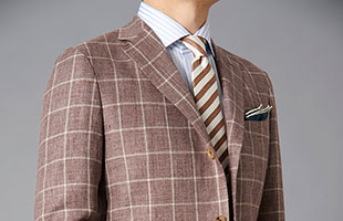 Linen jacket brown